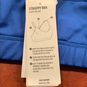 adidas Intimates & Sleepwear - Adidas Blue XL Sport Strappy Bra 3S NEW!